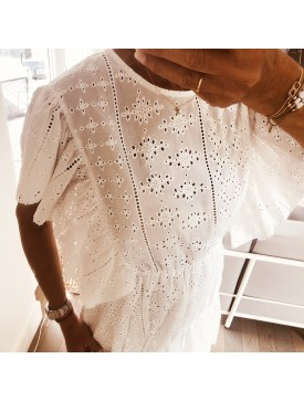 ROBE BLANCHE BRODE