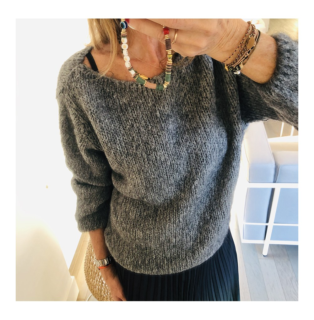 PULL GRIS FONCE