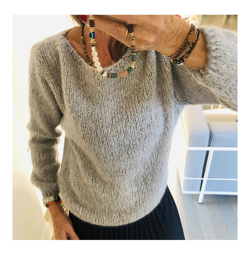 PULL GRIS CLAIR