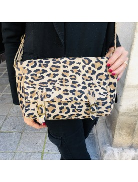 SAC CARTABLE LEOPARD