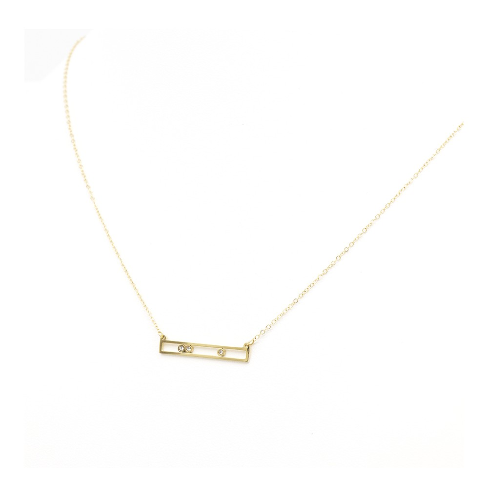 COLLIER - RECTANGLE STRASS