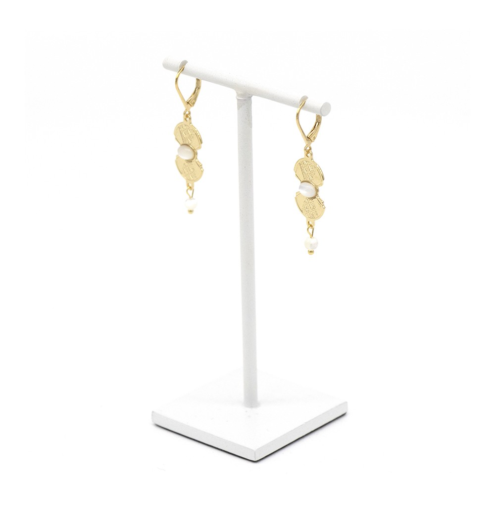 BOUCLES MANHATTAN NACRE (BLANC)