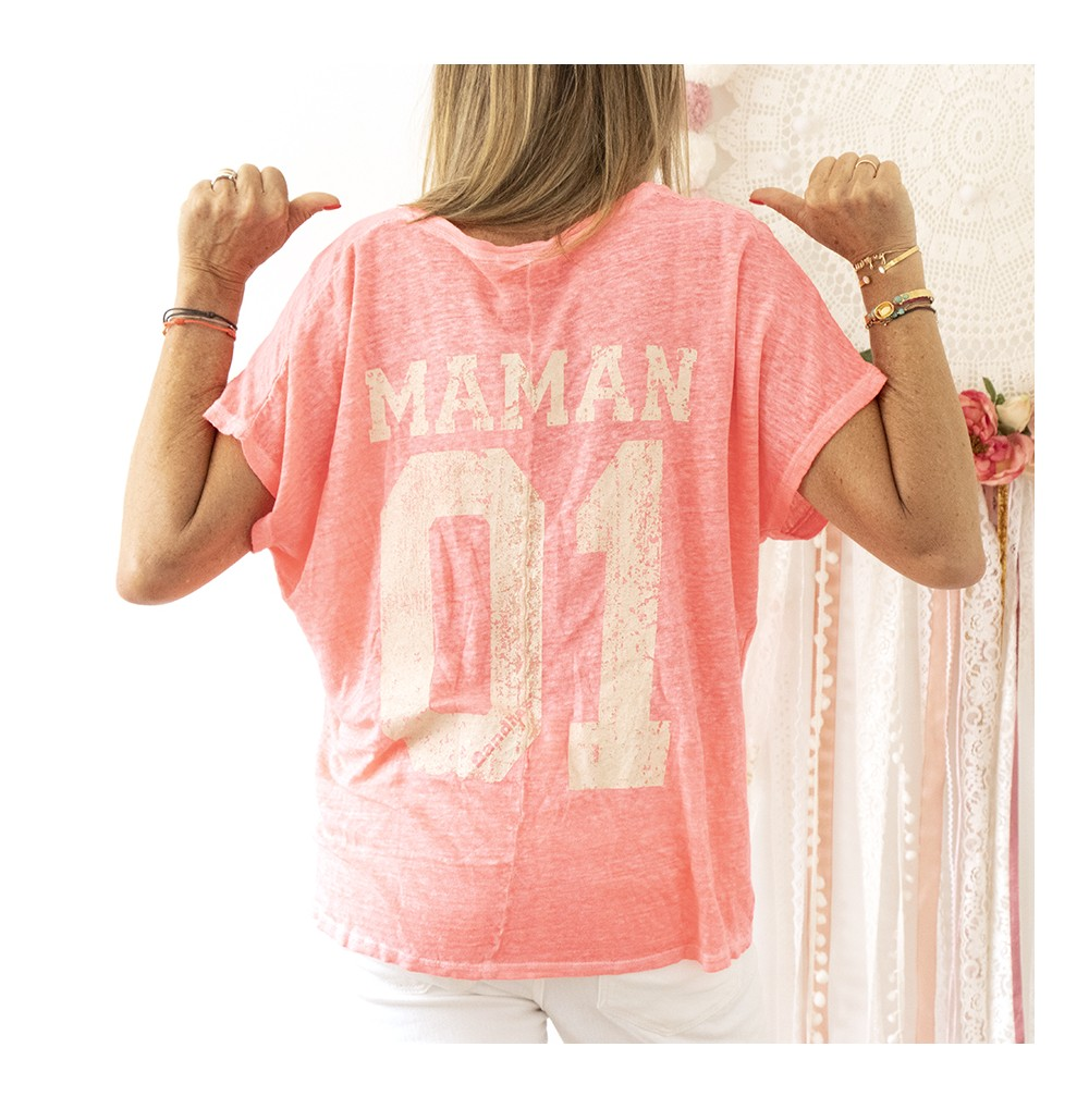 TEE-SHIRT MAMAN ROSE