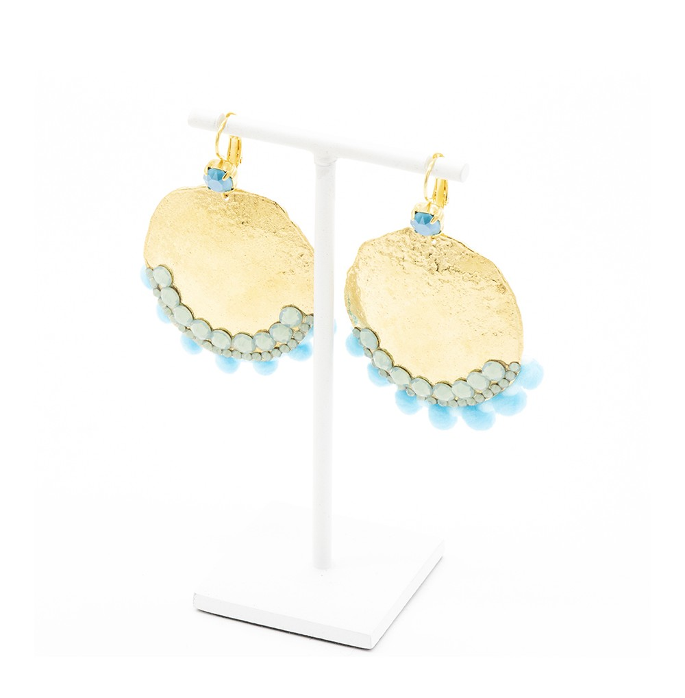 Boucles marion turquoise