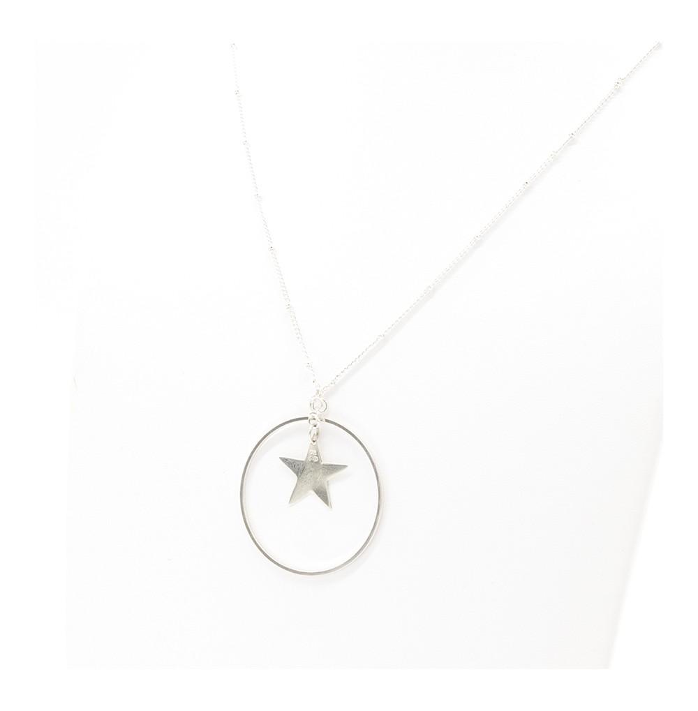 Sautoir cercle étoile