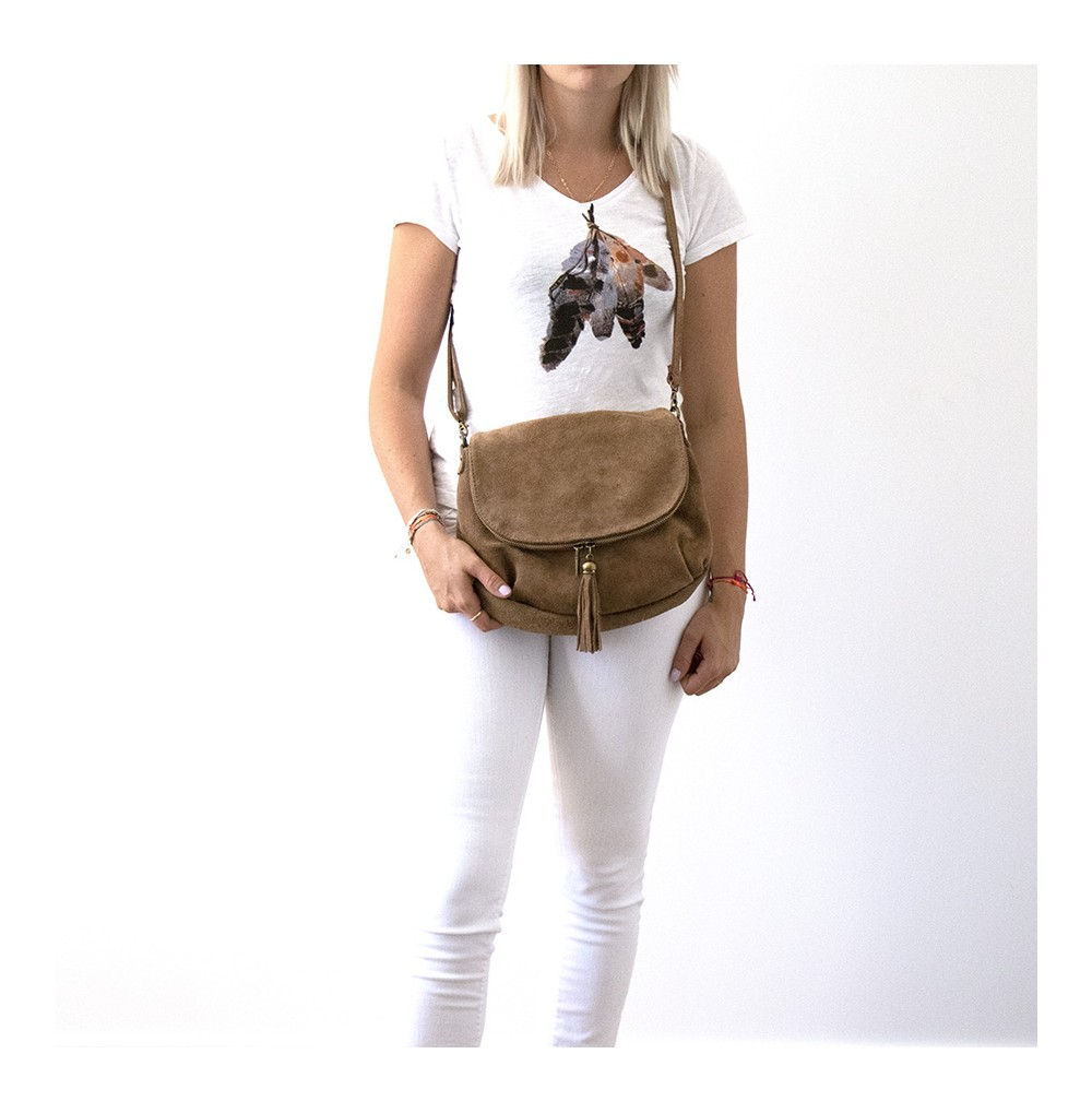 SAC DAIN RABAT ZIP MARRON